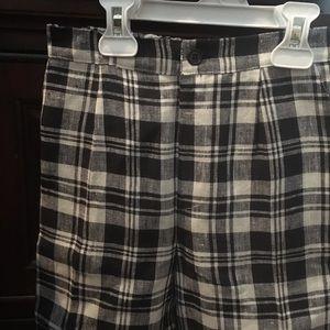 Other - Boys Linen Dress shorts -Black/white check  Size 5